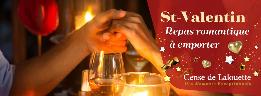 Repas romantique à emporter pour la St Valentin